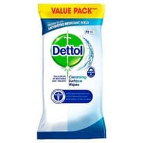 Dettol Anti Bacterial Wipes - Pack 72